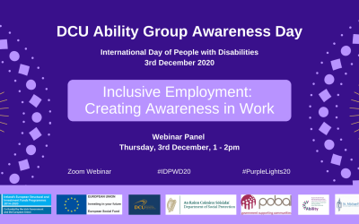 DCU Ability Group Awareness Day 2020