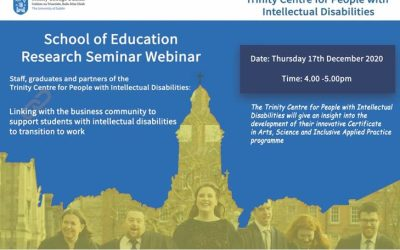 Research Seminar – Trinity Centre for People with Intellectual Disabilities