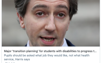 Major 'transition planning' for students with disabilities to progress to college. [via Irish Times, 20th May 2021]