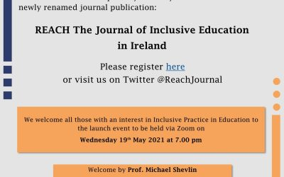 Launch of renamed REACH : Journal of Inclusive Education in Ireland
